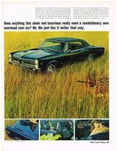 Vintage 1966 Magazine Ad Pontiac Does Sleek & Luxurious LeMans Need Overhead Cam - $5.93