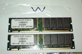 2 Matching Hynix 128SDR Dimm, H 16ZHS Stk 3937969 - $19.80