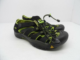 KEEN Kid's Newport H2 Sandal Black/Lime Green Size 4M - $21.37