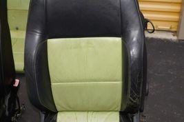 00-04 Volkswagen Vw Beetle Bug Hatchback Turbo GLS Leather Seat Set Green & BLK image 6