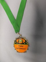happy halloween trophy costume party award medal green drape - £1.72 GBP