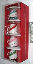 2007 Starbucks Coffee New Holiday 4-3 oz Mini Demitasse Espresso Mug Cup... - $38.59