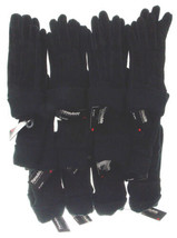 12 Pairs Gloves Jaclyn Smith Leather Black S/M Suede Winter Dozen Wholes... - $32.99