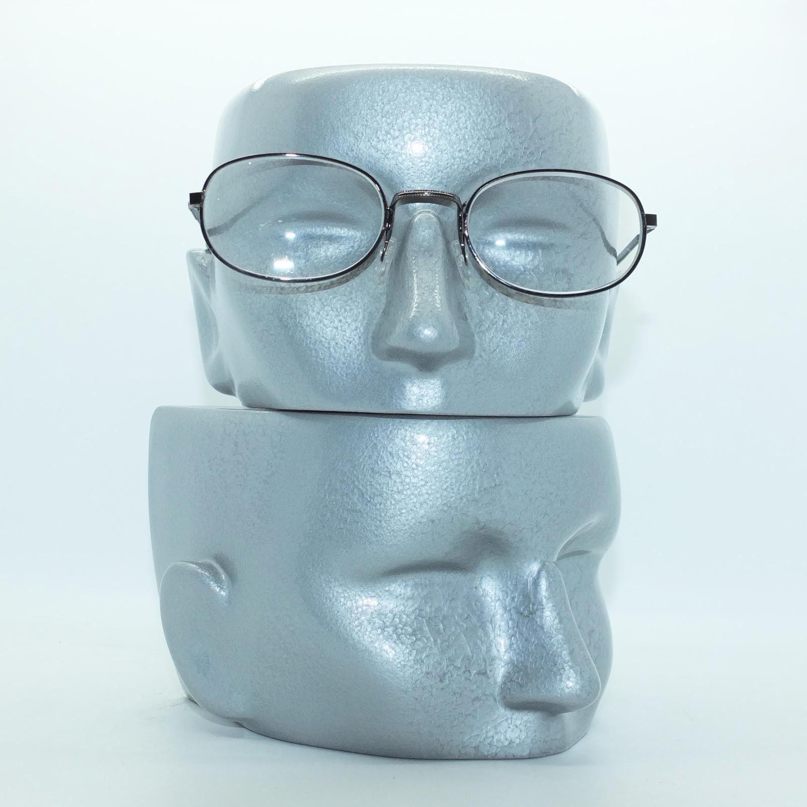 Reading Glasses Delicate Oval Lightweight Matte Black Metal Frame +1.75 Lens