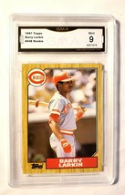 1987 Topps #648 Barry Larkin Graded GMA 9 Cincinnati Reds Baseball Cards - $0.94