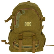 [Own Propert] Multipurpose canvas Outdoor Backpack/Dayback Khaki - $24.99