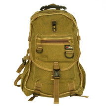[City Boy] Multipurpose Canvas Outdoor Backpack/Dayback Khaki - $24.99