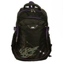 [Purple Zipper] Backpack /School Bag /Dayback Black - $26.99