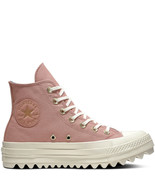 Converse Womens CTAS Lift Ripple Hi Canvas 561670C Rust Pink/Mason Blue/... - $50.98