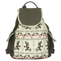 [Happy Trip] Fabric Art School Backpack Outdoor Daypack - $28.99