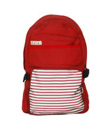 [Lively Red] Fabric Art School Backpack Outdoor Daypack - $28.99