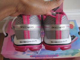 "BNIB Skechers® Women's ""Skech-Air 2.0"" Aim High Training Shoes, grey/pink, $85 image 4"