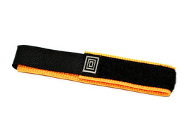 14-17mm Black Orange Nylon Adventurer Waterproof Hook & Loop OnePiece WatchBand - $9.89