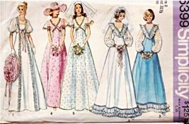 UNCUT Simplicity #6399 Misses' Wedding & Bridesmaid Dress Sz 8, Vintage 1974 - $12.00