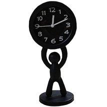 Nostalgia Noiseless Alarm Clock Kids' Birthday Gift Student Clock Black - $18.39