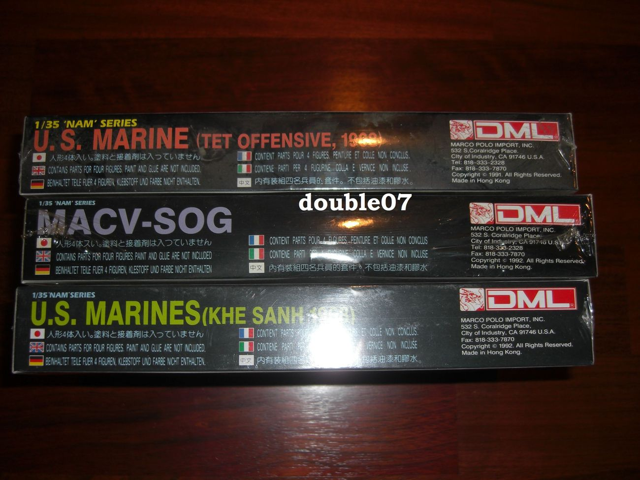 DML 1/35 'Nam' Series IN SHRINK WRAP 3305 3306 3307 (lot of 3)