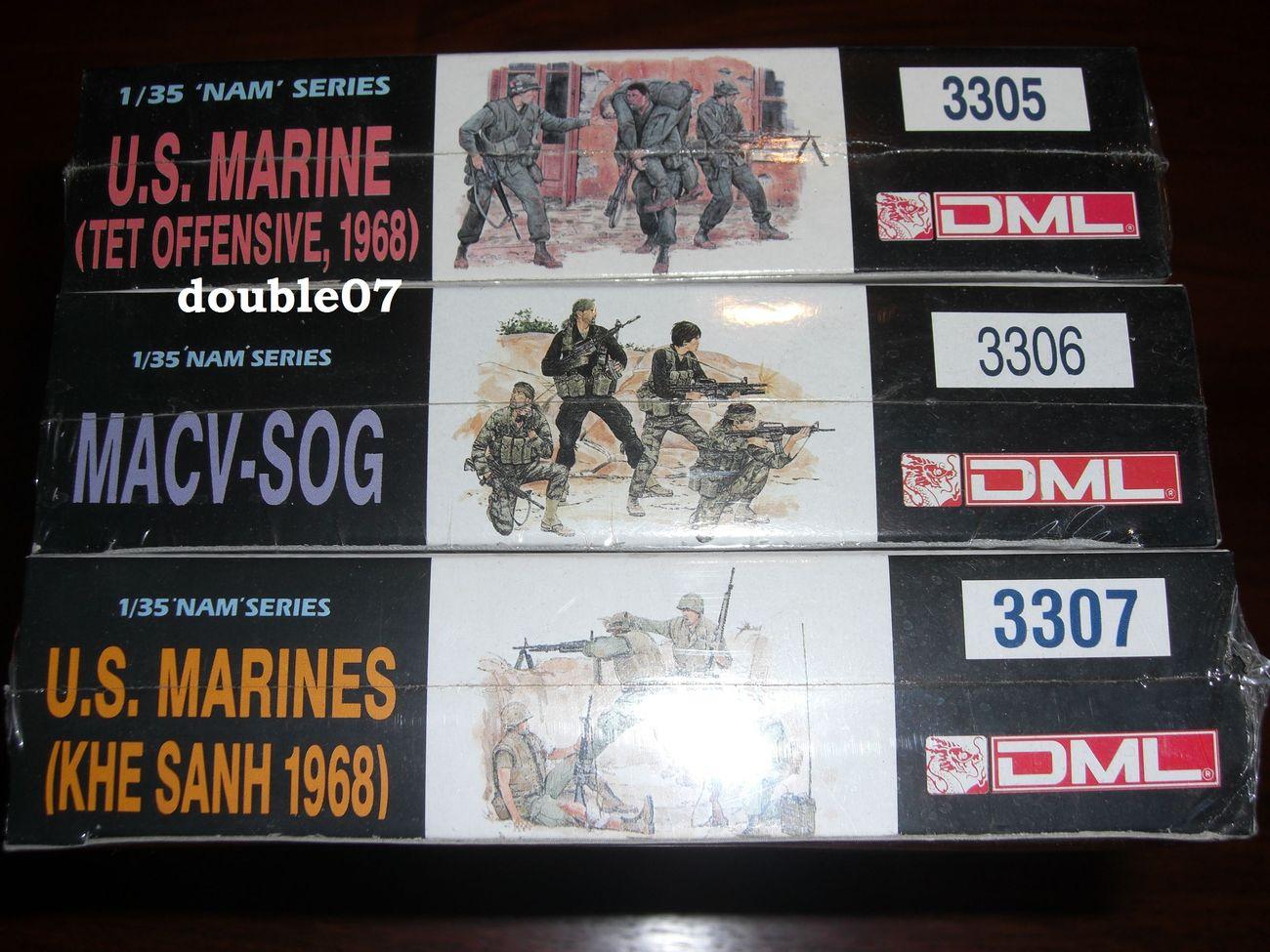 DML 1/35 'Nam' Series IN SHRINK WRAP 3305 3306 3307 (lot of 3)