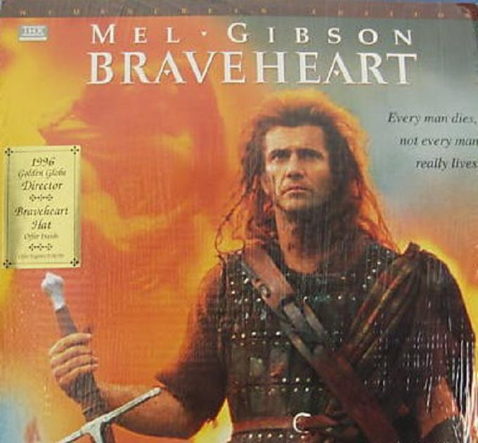 Primary image for Braveheart / Widescreen Laser Disc Mel Gibson Factory sealed