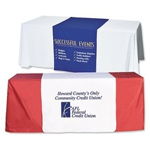 Customize Table Runner Cloth Using Your Text and Log 3'x6' advertise your busine image 2