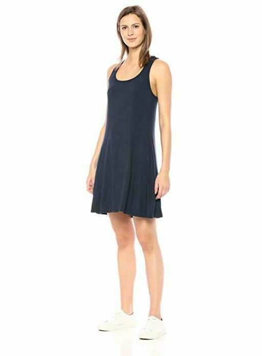 Primary image for NWT Daily Ritual Women's Jersey Sleeveless Racerback Swing Dress Navy Small