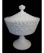Fenton Spanish Lace Silver Crest Covered Candy Box - $35.00