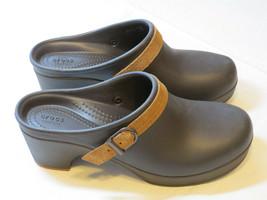 Crocs Sarah Clog Hausschuhe Duell Komfort Espresso 20631 Standard für Da... - $59.44