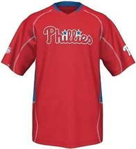Majestic Philadelphia Phillies Men's Fast Action Jersey Red Big And Tall Sizes 3 - $43.94