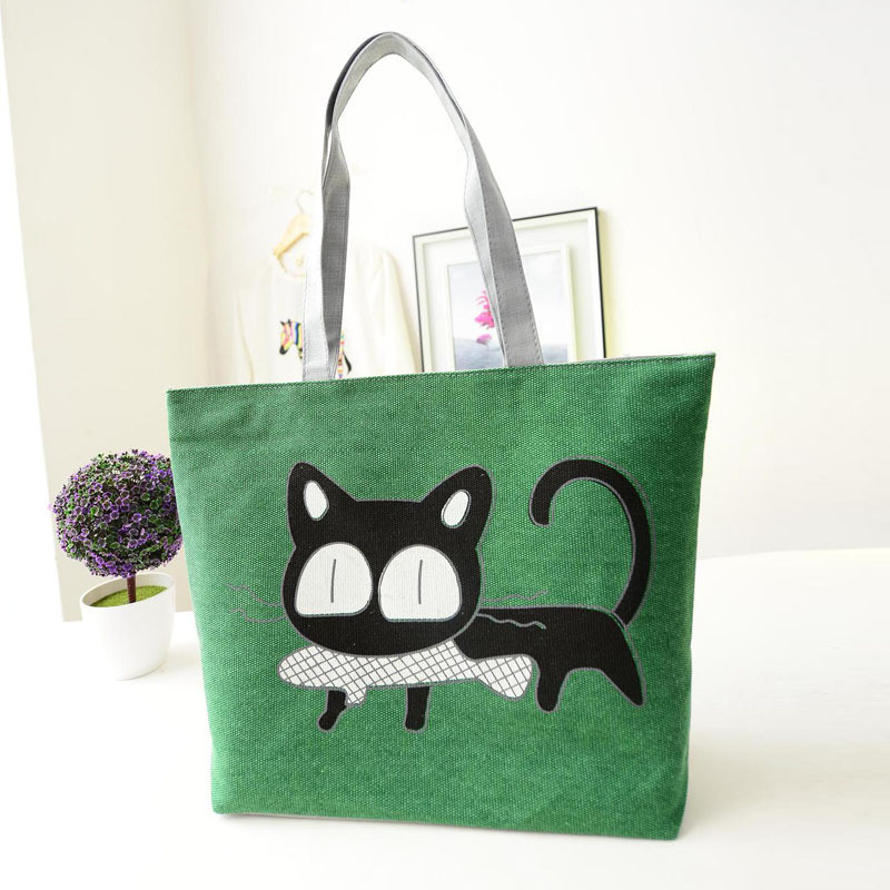 Beach bags Famous Cat Large Shoulder Tote image 6