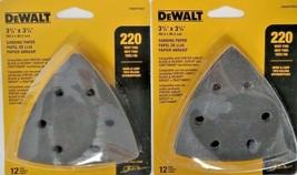 DEWALT DWASPTRI22 Hook And Loop Triangle 220 Grit Sandpaper 2-12 Packs - $5.45