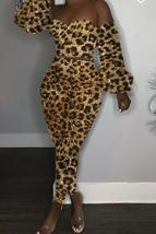 Casual Leopard Printed Two-piece Pants Set - $32.08