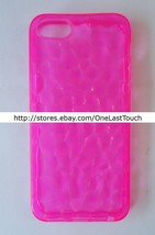 PRESS PLAY Case for IPHONE 5 See-Thru Pink TPU METRO DESIGN Bump Texture... - $5.91