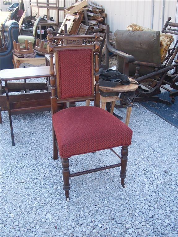 Primary image for Mahogany Carved Parlor Chair/Sidechair