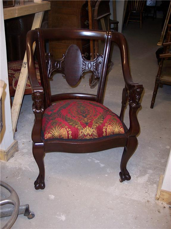 Primary image for Mahogany Carved Empire Armchair Parlor Chair