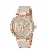New Michael Kors Women Parker Crystal Pave Stainless Steel Watch Mk6176 - $250.46