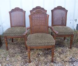 Set of 4 Caned Back Oak Burlington Chairs/Dinette Chair - $674.40