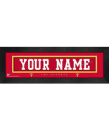 "VMI ""Keydets"" Personalized Stitched Jersey 8 x 24 Framed Print - $39.95"