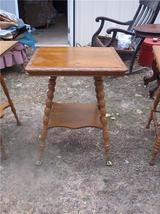 Carved Quartersawn Oak Parlor Table/Center Table - $499.00