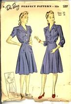 Uncut 1940s Size 20 Bust 38 WWII Tailored Dress Swing Du Barry 5287 Patt... - $19.99