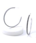 "John Hardy JAI KALAHARI Carved Earrings Sterling Silver 2"" NIB - $239.00"