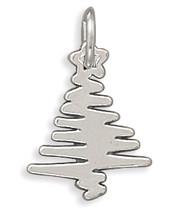 Sterling Silver Zig Zag Christmas Tree Charm - €16,84 EUR