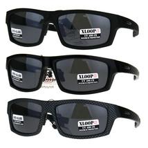 Mens Xloop Classic Rectangular Warp Biker Style Sunglasses - $12.95