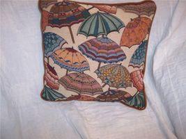 Umbrella Print Decorative Pillow 15 x 15 - $14.14