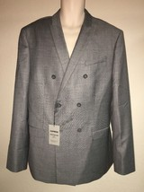 Express Blazer Suit Jacket Mens 44 Long Gray Photographer Fitted NWT $298 - $52.25