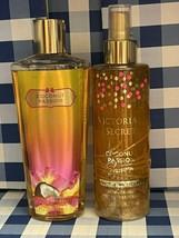 2 New Victoria's Secret COCONUT PASSION SHIMMER Mist Spray 8.4 fl + Body... - $29.40