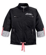 Harley-Davidson Jacket Black Nylon Primitive Ro... - $99.00