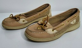 Sperry Top Sider Womens Angelfish Linen-Gold Glitter Shoes Size 6.5M 910... - $32.99