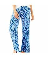Women's Lilly Pulitzer Blue Lolani 100% Silk Palazzo Pants sz 4 - $129.65