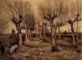 Pollard Birches 11 x 14  poster Van Gogh fine art reprint trees - $14.99