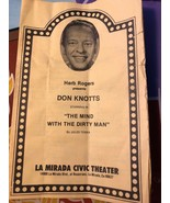 VTG Herb Rogers DON KNOTTS La Mirada Civic Theater play program  - $24.75