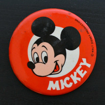 Vintage Pinback Button Pin MICKEY MOUSE WALT DISNEY PRODUCTION 1970s - $13.17